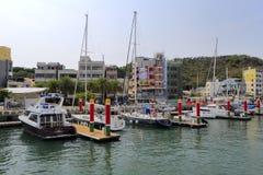 Марина яхты в gushan пристани парома Стоковые Изображения RF