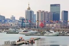 Марина яхты города Китая Qingdao стоковое изображение rf