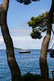 Марина яхты Cavtat - Хорватия Стоковое Фото