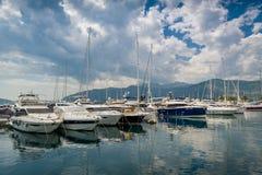 Марина яхты Tivat Стоковое Изображение RF
