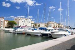 Марина Gruissan в южной Франции стоковое изображение