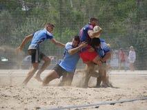 Марина 2017 Igea рэгби пляжа - скорпионы против Барстеры пляжа Стоковое Фото