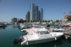 Марина n Abu Dhabi Стоковое фото RF