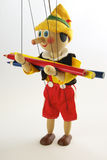 марионетка карандаша деревянная Стоковые Фотографии RF