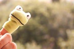 Марионетка пальца лягушки Стоковая Фотография