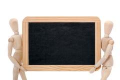 марионетки нося 2 chalkboard Стоковые Изображения