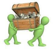 марионетки 2 коробки деревянные Стоковые Фото