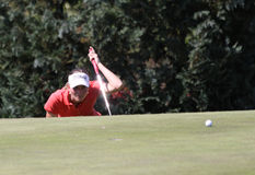 Марион Ricordeau на дамах гольфа Fourqueux раскрывает Стоковое Фото