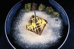 Марихуана съестная - плита пирожного бака Стоковые Изображения