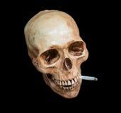 Марихуана черепа куря, путь клиппирования Стоковые Фотографии RF