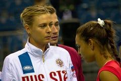 Мария Sharapova и Vitalia Diatchenko Стоковые Изображения