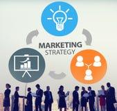 Маркетинговая стратегия клеймя коммерчески план Concep рекламы стоковая фотография rf