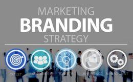 Маркетинг бренда клеймя концепция коммерчески имени Стоковые Изображения RF