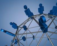 Маркетинг голубого mlm дела сети современного вирусный Стоковые Изображения