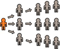Маркетинг графического представления Multi ровный стоковая фотография