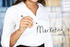Маркетинг дела женщины стоковое фото rf