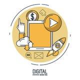 Маркетинг и реклама цифров infographic бесплатная иллюстрация