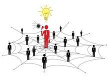 Маркетинг сети Стоковое Изображение