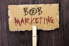 Маркетинг текста B2B сочинительства слова Концепция дела для дела к коммерции торговых операций дела написанной на картоне p Стоковое Фото