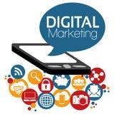 Маркетинг цифров вектора иллюстрации графический Стоковое Изображение