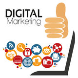 Маркетинг цифров вектора иллюстрации графический Стоковая Фотография