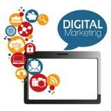 Маркетинг цифров вектора иллюстрации графический Стоковая Фотография RF