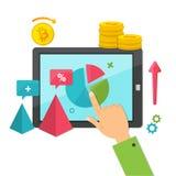 Маркетинг цифров, онлайн концепция дела Стоковая Фотография RF