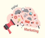 Маркетинг цифров с громкоговорителем Стоковое фото RF