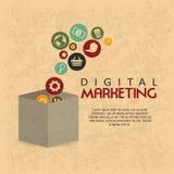 Маркетинг цифров бесплатная иллюстрация