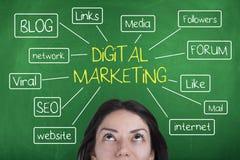 Маркетинг цифров Стоковая Фотография RF
