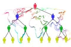 Маркетинг человеческой сети. бесплатная иллюстрация