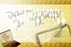 Маркетинг человеческой сети. Стоковое Изображение