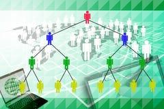 Маркетинг человеческой сети. Стоковое Изображение RF