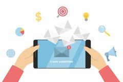 Маркетинг электронной почты дела иллюстрация штока