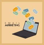 Маркетинг электронной почты Стоковое фото RF