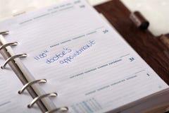 маркированный календар назначения Стоковое Фото