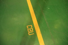 Маркировка пола расцветки Стоковое Фото