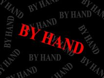 маркировка руки Стоковое Изображение
