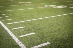 Маркировки футбольного поля Стоковое Фото