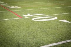 Маркировки футбольного поля Стоковая Фотография
