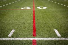Маркировки футбольного поля Стоковая Фотография RF