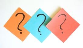 маркируйте вопрос Стоковое Изображение