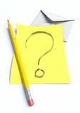 маркируйте вопрос Стоковое Фото
