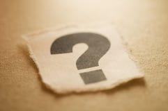 маркируйте вопрос Стоковые Изображения RF