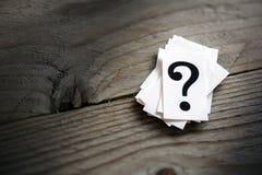 маркируйте вопрос Стоковая Фотография RF