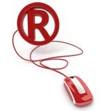 маркируйте зарегистрированное он-лайн Стоковое фото RF