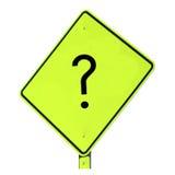 маркируйте знак вопроса Стоковое фото RF