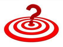 маркируйте красный цвет вопроса Стоковая Фотография RF