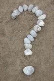 маркируйте символ вопроса каменный Стоковые Фото