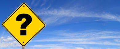 маркируйте дорожный знак вопроса Стоковая Фотография